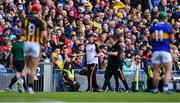 18 August 2019; Kilkenny manager Brian Cody appeals to linesman Johnny Murphy after Richie Hogan of Kilkenny was sent off by referee James Owens during the GAA Hurling All-Ireland Senior Championship Final match between Kilkenny and Tipperary at Croke Park in Dublin. Photo by Piaras Ó Mídheach/Sportsfile