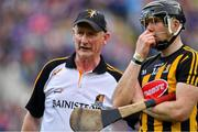 18 August 2019; Kilkenny manager Brian Cody with Walter Walsh after the GAA Hurling All-Ireland Senior Championship Final match between Kilkenny and Tipperary at Croke Park in Dublin. Photo by Brendan Moran/Sportsfile
