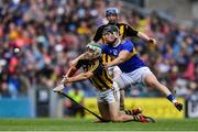 18 August 2019; Paddy Deegan of Kilkenny, supported by team-mate John Donnelly, behind, in action against Dan McCormack of Tipperary during the GAA Hurling All-Ireland Senior Championship Final match between Kilkenny and Tipperary at Croke Park in Dublin. Photo by Piaras Ó Mídheach/Sportsfile