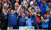 18 August 2019; Tipperary manager Liam Sheedy, 2nd from left, and coaches, from left, Darragh Egan, Eamon O'Shea and Tommy Dunne, celebrate with the Liam MacCarthy cup after the GAA Hurling All-Ireland Senior Championship Final match between Kilkenny and Tipperary at Croke Park in Dublin. Photo by Brendan Moran/Sportsfile