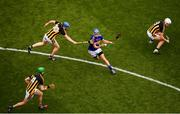 18 August 2019; John McGrath of Tipperary in action against Kilkenny players, from left, Joey Holden, 4, John Donnelly and Conor Browne during the GAA Hurling All-Ireland Senior Championship Final match between Kilkenny and Tipperary at Croke Park in Dublin. Photo by Stephen McCarthy/Sportsfile