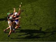 18 August 2019; Padraig Walsh, 6, and Paddy Deegan of Kilkenny in action against Niall O'Meara, right, and Dan McCormack of Tipperary during the GAA Hurling All-Ireland Senior Championship Final match between Kilkenny and Tipperary at Croke Park in Dublin. Photo by Stephen McCarthy/Sportsfile
