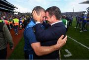 18 August 2019; Tipperary manager Liam Sheedy and Tipperary sponsor Declan Kelly, CEO, Teneo, celebrate following the GAA Hurling All-Ireland Senior Championship Final match between Kilkenny and Tipperary at Croke Park in Dublin. Photo by Stephen McCarthy/Sportsfile