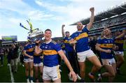 18 August 2019; Tipperary captain Séamus Callanan and team-mates celebrate with the Liam MacCarthy Cup following the GAA Hurling All-Ireland Senior Championship Final match between Kilkenny and Tipperary at Croke Park in Dublin. Photo by Stephen McCarthy/Sportsfile