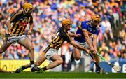 18 August 2019; Ronan Maher of Tipperary clears under pressure from Colin Fennelly of Kilkenny during the GAA Hurling All-Ireland Senior Championship Final match between Kilkenny and Tipperary at Croke Park in Dublin. Photo by Brendan Moran/Sportsfile