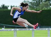 18 August 2019; Nichola Tighe from Waterford A.C. who won the womens over 40's 80m Hurdles during the Irish Life Health National Masters Track and Field Championships at Tullamore Harriers Stadium in Tullamore, Co Offaly. competing during the Irish Life Health National Masters Track and Field Championships at Tullamore Harriers Stadium in Tullamore, Co Offaly. Photo by Matt Browne/Sportsfile