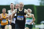 18 August 2019; Neil Kingston from Eagle A.C. Cork City competing in the mens over 45's 800m during the Irish Life Health National Masters Track and Field Championships at Tullamore Harriers Stadium in Tullamore, Co Offaly. Photo by Matt Browne/Sportsfile