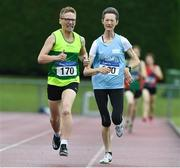 18 August 2019; Susanne O'Beirne from North Leitrim A.C. competing in the over 45's 800m during the Irish Life Health National Masters Track and Field Championships at Tullamore Harriers Stadium in Tullamore, Co Offaly. Photo by Matt Browne/Sportsfile