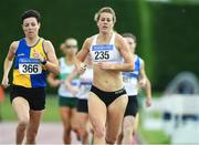 18 August 2019; Fiona Kehow, 235, from Kilmore A.C. Co Wexford who won the women's 800m over 35's and Denise Toner,366, from Clones A.C who won the over 40's 800m during the Irish Life Health National Masters Track and Field Championships at Tullamore Harriers Stadium in Tullamore, Co Offaly. Photo by Matt Browne/Sportsfile