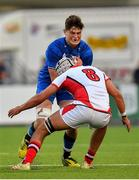17 August 2019; Alex Soroka of Leinster is tackled by Jack Gamble of Ulster during the U19 Interprovincial Rugby Championship match between Leinster and Ulster at Energia Park in Donnybrook, Dublin. Photo by Seb Daly/Sportsfile