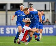 17 August 2019; Karl Martin of Leinster is tackled by Reece Malone of Ulster during the U19 Interprovincial Rugby Championship match between Leinster and Ulster at Energia Park in Donnybrook, Dublin. Photo by Seb Daly/Sportsfile
