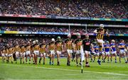 18 August 2019; TJ Reid of Kilkenny leads his team in the pre match parade ahead of the GAA Hurling All-Ireland Senior Championship Final match between Kilkenny and Tipperary at Croke Park in Dublin. Photo by Sam Barnes/Sportsfile