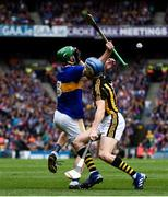18 August 2019; Noel McGrath of Tipperary in action against TJ Reid of Kilkenny during the GAA Hurling All-Ireland Senior Championship Final match between Kilkenny and Tipperary at Croke Park in Dublin. Photo by Sam Barnes/Sportsfile
