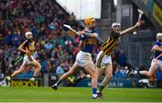 18 August 2019; Séamus Callanan of Tipperary in action against Huw Lawlor of Kilkenny during the GAA Hurling All-Ireland Senior Championship Final match between Kilkenny and Tipperary at Croke Park in Dublin. Photo by Sam Barnes/Sportsfile