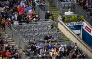 18 August 2019; Injured Tipperary player Patrick 'Bonner' Maher on the Tipperary substitutes bench prior to the GAA Hurling All-Ireland Senior Championship Final match between Kilkenny and Tipperary at Croke Park in Dublin. Photo by Stephen McCarthy/Sportsfile