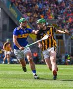 18 August 2019; Joey Holden of Kilkenny in action against John O'Dwyer of Tipperary during the GAA Hurling All-Ireland Senior Championship Final match between Kilkenny and Tipperary at Croke Park in Dublin. Photo by Sam Barnes/Sportsfile