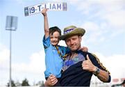 19 August 2019; Tipperary supporters, Gavin Lynch senior, right, and Gavin Lynch junior from Roscrea, Co Tipperary, at the Tipperary All-Ireland hurling champions homecoming event at Semple Stadium in Thurles, Tipperary. Photo by Sam Barnes/Sportsfile
