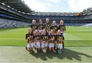 18 August 2019; The Kilkenny team, back row, left to right, Aisling Walsh, Ballyhea NS, Charleville, Cork, Amelia Higgins, St. Brigid's NS, Castleknock, Dublin, Anna O'Neill, Corpus Christi GNS, Drumcondra, Dublin, Sarah Sheehan, Drumphea NS, Garryhill, Muine Bheag, Carlow, Anna Doheny, Scoil Ruadhain, Tullaroan, Kilkenny, front row, left to right, Grace Cleary, Shinrone NS, Birr, Offaly, Jessica Johnston, St John the Baptist PS, Belleek, Fermanagh, Sarah McHugh, St Josephs NS, Boyerstown, Meath, Sian Weir Hall, Raharney NS, Mullingar, Westmeath, Lucy Sheridan, St Kevin's NS, Dunleer, Louth, ahead of the INTO Cumann na mBunscol GAA Respect Exhibition Go Games prior to the GAA Hurling All-Ireland Senior Championship Final match between Kilkenny and Tipperary at Croke Park in Dublin. Photo by Daire Brennan/Sportsfile