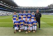 18 August 2019; The Tipperary team, back row, left to right, Joseph Braniff, St Patrick's Ballygalget, Portaferry, Down, John Ryan, Kilbrittain NS, Bandon, Cork, Seán Farrell, Donaskeigh NS, Dundrum, Tipperary, Marc O'Brien, St John's NS, Cratloe, Clare, Luke Connolly, St Patrick's & St Brigid's PS, Antrim, front row. left to right, Ross Doherty, Scoil Iosagáin, Buncrana, Donegal, Eoin O'Flaherty, Scoil Náisiúnta Ard Fhearta, Kerry, Eoin Lawlor, St. Patricks NS, Wicklow Town, Wicklow, Brogan McCrory, St Francis PS, Lurgan, Armagh, Eoghan Mac Sheoinín, Gael Scoil na Cruaiche, Cathair na Mart, Maigh Eo, ahead of the INTO Cumann na mBunscol GAA Respect Exhibition Go Games prior to the GAA Hurling All-Ireland Senior Championship Final match between Kilkenny and Tipperary at Croke Park in Dublin. Photo by Daire Brennan/Sportsfile