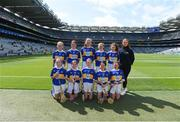 18 August 2019; The Tipperary team, back row, left to right, Lauren Devaney, Diffreen NS, Manorhamilton, Leitrim, Megan O'Grady, Knockavilla NS, Knockavilla, Tipperary, Shauna MacSweeney, St. Patrick's NS , Bunclody, Wexford, Síofra Ní hOisín, Gael Scoil de hÍde, Cnoc na Crúibe, Ros Comáin, Lucy Donnelly, Scoil Mhuire, Tallow, Waterford, front row, left to right, Grainne Smith, St Patrick's NS, Geevagh, Sligo, Niamh Hasson, St Mary's PS, Dungiven, Derry, Amber McIntyre, Coronea NS, Cornafean, Cavan, Caoimhe McKee, Scoil na Caílín, Castleblayney, Monaghan, Catherine Moohan, St. Patrick's PS, Dungannon, Tyrone, ahead of the INTO Cumann na mBunscol GAA Respect Exhibition Go Games prior to the GAA Hurling All-Ireland Senior Championship Final match between Kilkenny and Tipperary at Croke Park in Dublin. Photo by Daire Brennan/Sportsfile