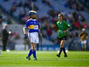 18 August 2019; Catherine Moohan, St. Patrick's PS, Dungannon, Tyrone, representing Tipperary, during the INTO Cumann na mBunscol GAA Respect Exhibition Go Games prior to the GAA Hurling All-Ireland Senior Championship Final match between Kilkenny and Tipperary at Croke Park in Dublin. Photo by Ray McManus/Sportsfile
