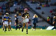 18 August 2019; Amelia Higgins, St. Brigid's NS, Castleknock, Dublin, representing Kilkenny, during the INTO Cumann na mBunscol GAA Respect Exhibition Go Games prior to the GAA Hurling All-Ireland Senior Championship Final match between Kilkenny and Tipperary at Croke Park in Dublin. Photo by Ray McManus/Sportsfile