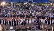 19 August 2019; The Tipperary team celebrate with the Liam MacCarthy cup at the Tipperary All-Ireland hurling champions homecoming event at Semple Stadium in Thurles, Tipperary. Photo by Sam Barnes/Sportsfile