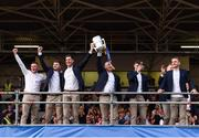 19 August 2019; Séamus Callanan of Tipperary and Tipperary manager Liam Sheedy lift the Liam MacCarthy cup as the team are introduced to the crowd at the Tipperary All-Ireland hurling champions homecoming event at Semple Stadium in Thurles, Tipperary. Photo by Sam Barnes/Sportsfile