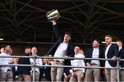 19 August 2019; Colin English of Tipperary celebrates with the Liam MacCarthy cup at the Tipperary All-Ireland hurling champions homecoming event at Semple Stadium in Thurles, Tipperary. Photo by Sam Barnes/Sportsfile