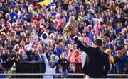 19 August 2019; Tipperary manager Liam Sheedy lifts the Liam MacCarthy cup as he addresses the crowd at the Tipperary All-Ireland hurling champions homecoming event at Semple Stadium in Thurles, Tipperary. Photo by Sam Barnes/Sportsfile