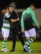 19 August 2019; Shamrock Rovers manager Stephen Bradley with Jack Byrne of Shamrock Rovers following the SSE Airtricity League Premier Division match between Waterford and Shamrock Rovers at RSC in Waterford. Photo by Eóin Noonan/Sportsfile