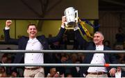 19 August 2019; Séamus Callanan of Tipperary, left,  and Tipperary manager Liam Sheedy with the Liam MacCarthy cup at the Tipperary All-Ireland hurling champions homecoming event at Semple Stadium in Thurles, Tipperary. Photo by Sam Barnes/Sportsfile