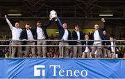 19 August 2019; Séamus Callanan of Tipperary, left,  and Tipperary manager Liam Sheedy with the Liam MacCarthy cup and team-mates at the Tipperary All-Ireland hurling champions homecoming event at Semple Stadium in Thurles, Tipperary. Photo by Sam Barnes/Sportsfile