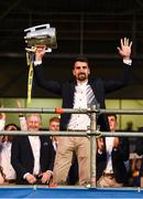 19 August 2019; Injured Tipperary hurler Patrick 'Bonner' Maher with the Liam MacCarthy cup at the Tipperary All-Ireland hurling champions homecoming event at Semple Stadium in Thurles, Tipperary. Photo by Sam Barnes/Sportsfile