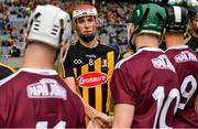 18 August 2019; Liam Moore of Kilkenny shakes hands with Colm Cunningham of Galway prior to the Electric Ireland GAA Hurling All-Ireland Minor Championship Final match between Kilkenny and Galway at Croke Park in Dublin. Photo by Seb Daly/Sportsfile
