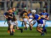 18 August 2019; Ross Deegan, Scoil Tighearnach Naofa, Cullohill, Laois, representing Kilkenny, in action against Eoin O'Flaherty, Scoil Náisiúnta Ard Fhearta, Kerry, representing Tipperary, during the INTO Cumann na mBunscol GAA Respect Exhibition Go Games prior to the GAA Hurling All-Ireland Senior Championship Final match between Kilkenny and Tipperary at Croke Park in Dublin. Photo by Seb Daly/Sportsfile