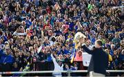 19 August 2019; A view of the crowd as Tipperary manager Liam Sheedy lifts the Liam MacCarthy cup at the Tipperary All-Ireland hurling champions homecoming event at Semple Stadium in Thurles, Tipperary. Photo by Sam Barnes/Sportsfile
