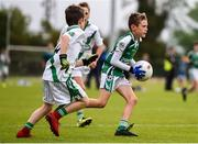 18 August 2019; Eoin Harris of Ballincollig, Co. Cork, competing in the U10 Boys/Girls/Mixed Gaelic Football during Day 2 of the Aldi Community Games August Festival, which saw over 3,000 children take part in a fun-filled weekend at UL Sports Arena in University of Limerick, Limerick. Photo by Ben McShane/Sportsfile
