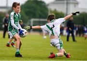18 August 2019; Eoin Harris of Ballincollig, Co. Cork, evades a tackle on his way to scoring his side's first goal competing in the U10 Boys/Girls/Mixed Gaelic Football during Day 2 of the Aldi Community Games August Festival, which saw over 3,000 children take part in a fun-filled weekend at UL Sports Arena in University of Limerick, Limerick. Photo by Ben McShane/Sportsfile