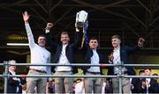 19 August 2019; Tipperary players, from left, Mark McCarthy,  Jason Ryan, Paddy Cadell and Tom Fox with the Liam MacCarthy cup at the Tipperary All-Ireland hurling champions homecoming event at Semple Stadium in Thurles, Tipperary. Photo by Sam Barnes/Sportsfile