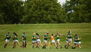 20 August 2019; Kerry players warm up ahead of their game against Carlow during the 2019 LGFA Under-17 Academy Day at the GAA National Games Development Centre in Abbotstown, Dublin. Photo by Eóin Noonan/Sportsfile