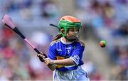 18 August 2019; Niamh Hasson, St Mary's PS, Dungiven, Derry, representing Tipperary, during the INTO Cumann na mBunscol GAA Respect Exhibition Go Games prior to the GAA Hurling All-Ireland Senior Championship Final match between Kilkenny and Tipperary at Croke Park in Dublin. Photo by Piaras Ó Mídheach/Sportsfile