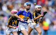 18 August 2019; Lauren Devaney, Diffreen NS, Manorhamilton, Leitrim, representing Tipperary, during the INTO Cumann na mBunscol GAA Respect Exhibition Go Games prior to the GAA Hurling All-Ireland Senior Championship Final match between Kilkenny and Tipperary at Croke Park in Dublin. Photo by Piaras Ó Mídheach/Sportsfile