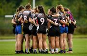20 August 2019; Sligo team huddle ahead of their game against Monaghan during the 2019 LGFA Under-17 Academy Day at the GAA National Games Development Centre in Abbotstown, Dublin. Photo by Eóin Noonan/Sportsfile