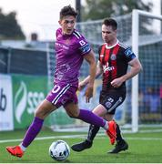 19 August 2019; Jamie McGrath of Dundalk and Michael Barker of Bohemians during the EA Sports Cup Semi-Final match between Dundalk and Bohemians at Oriel Park in Dundalk, Co. Louth. Photo by Ben McShane/Sportsfile