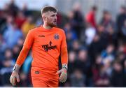 19 August 2019; Bohemians goalkeeper Michael Kelly during the EA Sports Cup Semi-Final match between Dundalk and Bohemians at Oriel Park in Dundalk, Co. Louth. Photo by Ben McShane/Sportsfile