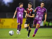 19 August 2019; Paddy Kirk of Bohemians and Jamie McGrath of Dundalk during the EA Sports Cup Semi-Final match between Dundalk and Bohemians at Oriel Park in Dundalk, Co. Louth. Photo by Ben McShane/Sportsfile