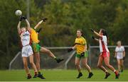 20 August 2019; Action from the game between Donegal and Tyrone during the 2019 LGFA Under-17 Academy Day at the GAA National Games Development Centre in Abbotstown, Dublin. Photo by Eóin Noonan/Sportsfile