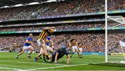 18 August 2019; Brian Hogan of Tipperary saves a shot on target by Colin Fennelly of Kilkenny during the GAA Hurling All-Ireland Senior Championship Final match between Kilkenny and Tipperary at Croke Park in Dublin. Photo by Eóin Noonan/Sportsfile
