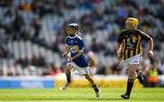 18 August 2019; Eoin Lawlor, St. Patricks NS, Wicklow Town, Wicklow, representing Tipperary, in action against Seán Treacy, Garryhill NS, Garryhill, Carlow, representing Kilkenny, during the INTO Cumann na mBunscol GAA Respect Exhibition Go Games prior to the GAA Hurling All-Ireland Senior Championship Final match between Kilkenny and Tipperary at Croke Park in Dublin. Photo by Eóin Noonan/Sportsfile